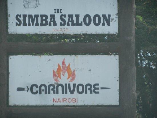 The Carnivore Restaurant : Simba Saloon and Carnivore Restaurant
