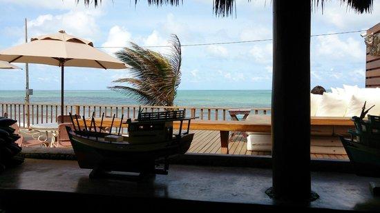 Manary Praia Hotel: Vista do praia, durante o almoço no Hotel.