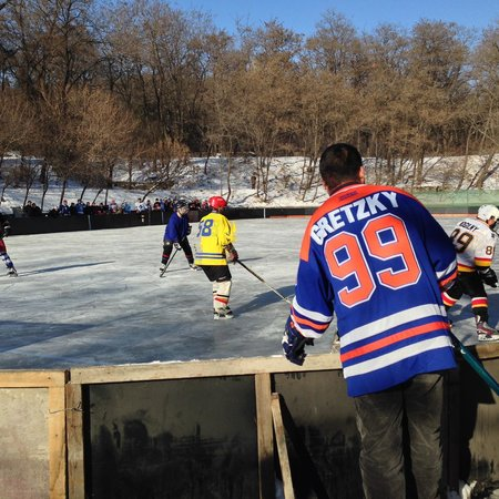 Anshan 219 Park : The local team plays against the Dalian Ice Dragons