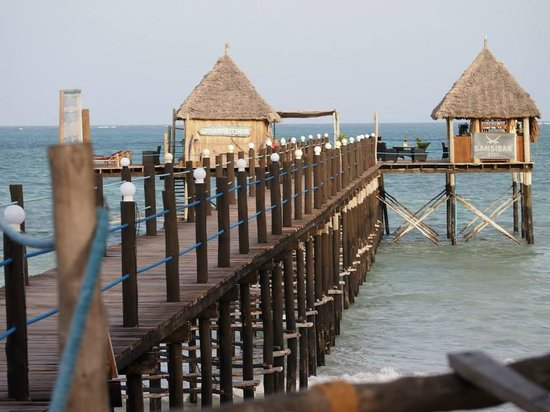 Spice Island Hotel & Resort Zanzibar: Resort's private pier, at high tide