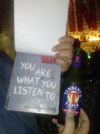 Vinyl : Menù
