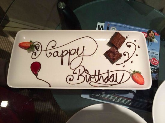 Radisson Blu Edwardian Manchester: Birthday surprise from the hotel!