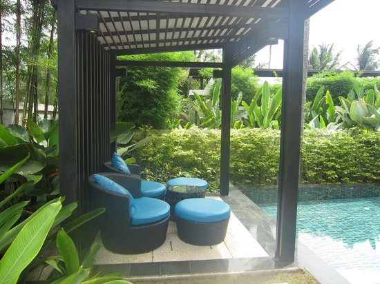 Ramada Khao Lak Resort: Deckchairs outside our villa