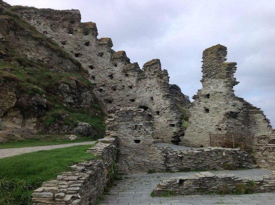 Ruins of mythic Tintagel Castle in Cornwall