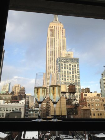 Ace Hotel New York: What a great welcome to NYC to check in and see this view