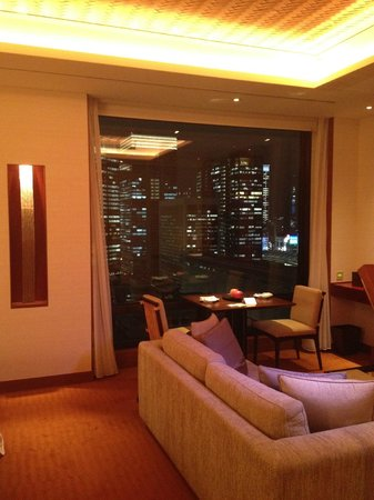 The Peninsula Tokyo: The view at night from our room