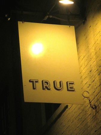 True : Outside sign