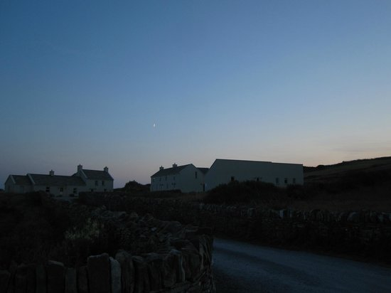 The Cliffs of Moher Retreat: Sunset over the buildings