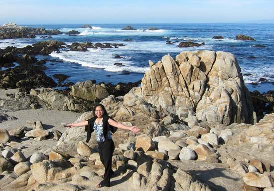 17-Mile Drive: The waves have rounded the edges of the rocks
