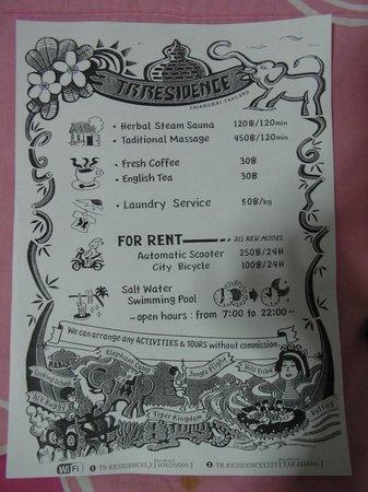 TR Residence: info
