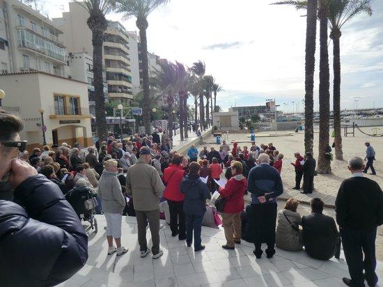 Carlos I Hotel: zingenen bij de duiven poniente strand