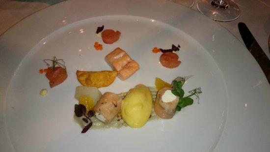 Restaurant Grüne Bar: Trout variation