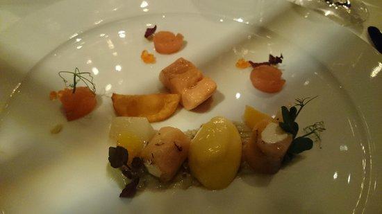 Restaurant Grüne Bar: Trout variation (starter)