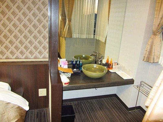 Yudaonsen UBL Hotel Matsumasa : 部屋の洗面所