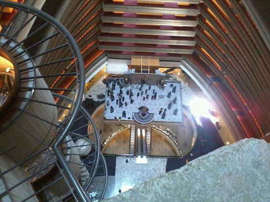 """Atlanta Marriott Marquis : Looking down from the 13th floor, they were filming """"The Hunger Games:"""