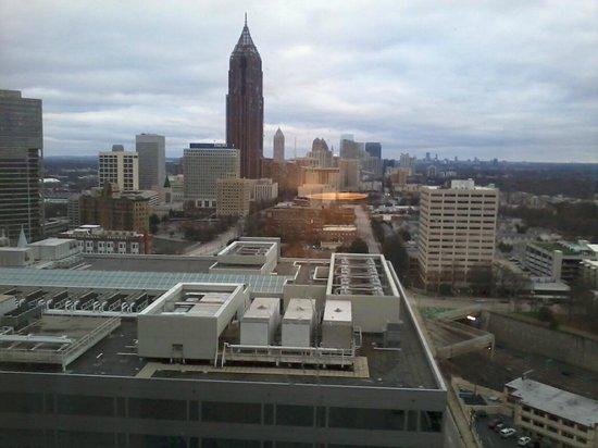 Atlanta Marriott Marquis : Atlanta morning skyline