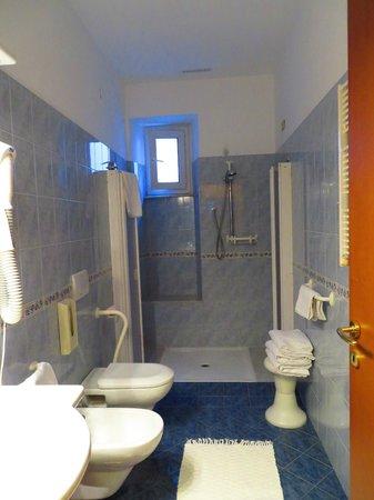 Hotel Genova : Salle de toilette et douche