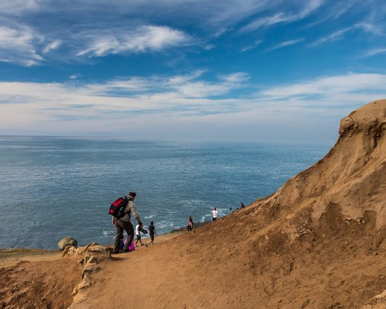 Point Loma: Hiker on Tidepool trails