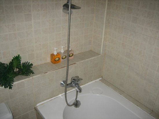 Eurana Boutique Hotel: No seperate shower cubicle