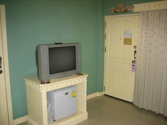 Eurana Boutique Hotel: One of two big TV's