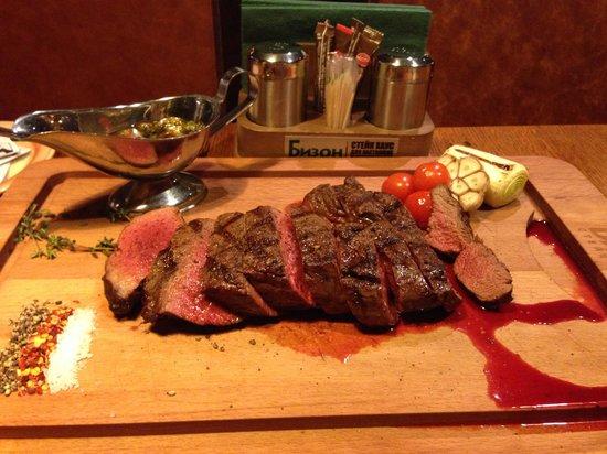 Bison Steak House : Очень вкусно!