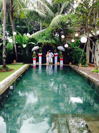 The Akasha Villas: Wedding vows in our villa