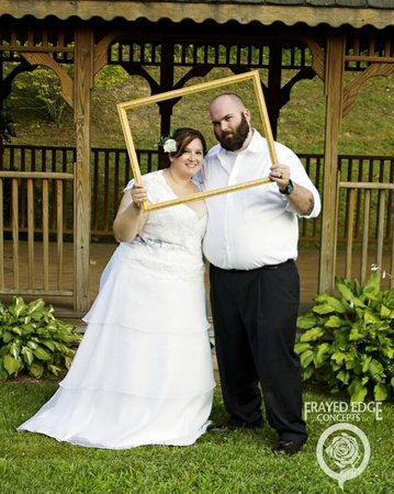 Smoky Mountain Mansion: Happy married couple at the mansion