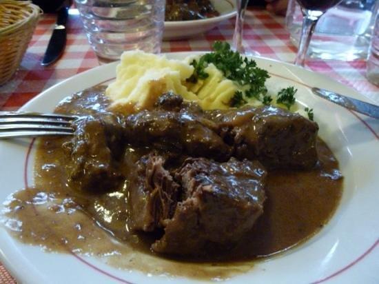 Restaurant Polidor : boeuf bourguignon / puree