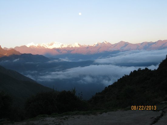 Inti Sun Trek: The view, waking up on day three.