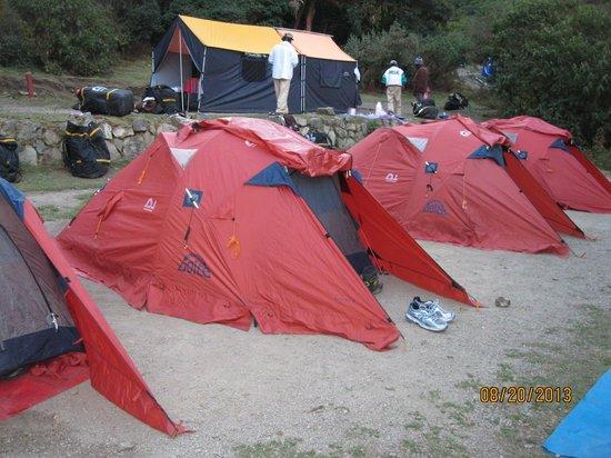 Inti Sun Trek: One of our campsites
