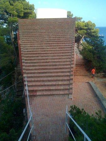 Villa Malaparte : scalinata