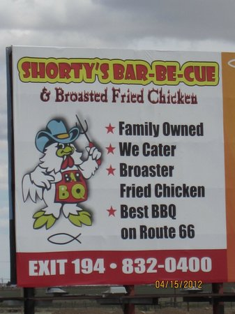 Shorty's Bar-B-Q: located on Rt. 66 BBQ and MORE!