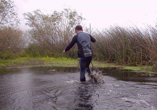 Laguna de los Padres: Al agua!