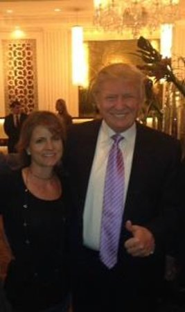 Trump International Hotel Las Vegas: The Donald and me in the lobby.