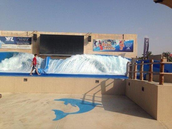 Yas Waterworld Abu Dhabi: Искусственные волны