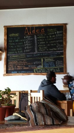 Aldea restaurant: Esta es la carta...