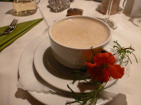 Restaurant at Hotel Maximilian: Truffled Chestnut Cream Soup...amazing