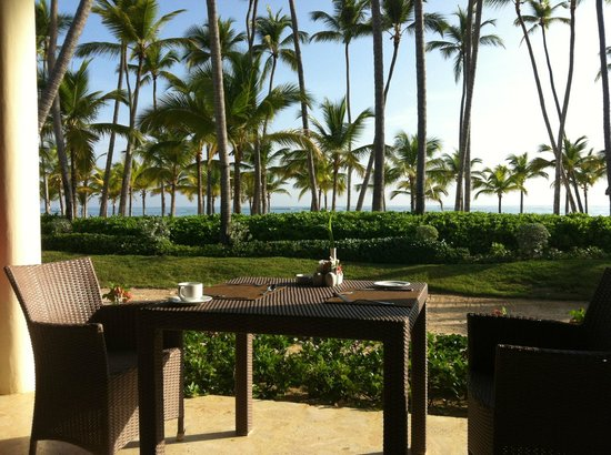 Secrets Royal Beach Punta Cana: View at breakfast time