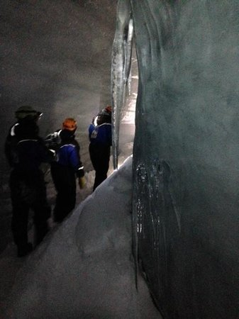 Green Dog Svalbard: In the ice cave