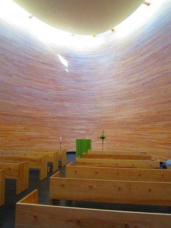 Kamppi Chapel of Silence : Часовня изнутри