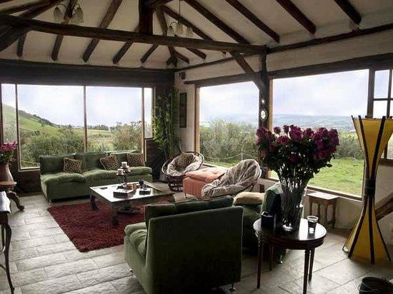 Sala de estar, Illinizas Lodge, Machachi, Pichincha, Ecuador