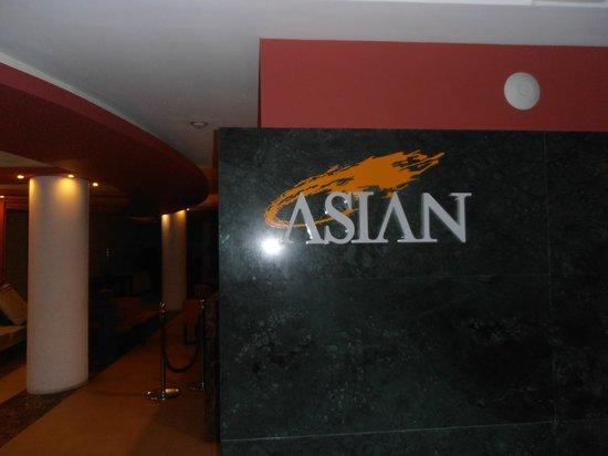 Hesperia Playa El Agua: Restaurant Asian, Club Edén