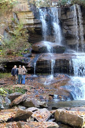 Craig Miller, of Miller's Land of Waterfall Tours, on left.