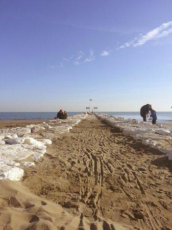 Lido di Venezia: Волнорез на пляже Лидо