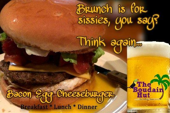 Boudain Hut : Bacon Cheeseburger with an Egg!