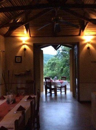 Gecko Lodge: in den Abend hinein, unser Tisch