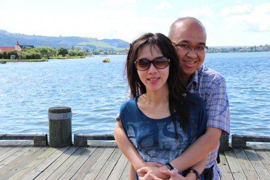 Another shot with my wife at Lake Rotorua