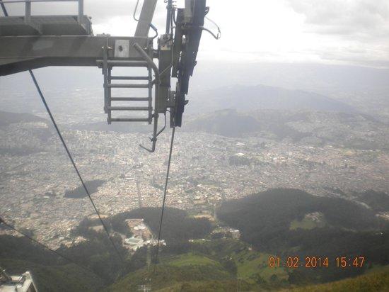 Teleferico Quito: Subiendo en el teleférico