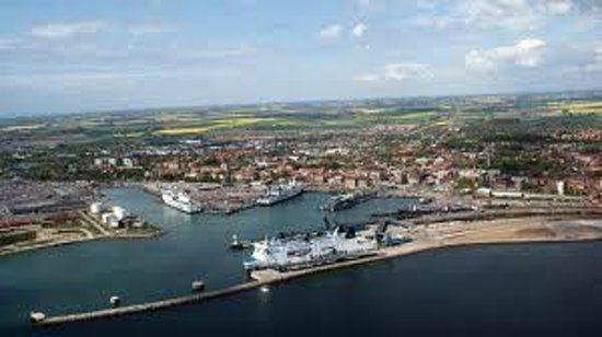 Trelleborg harbour from above