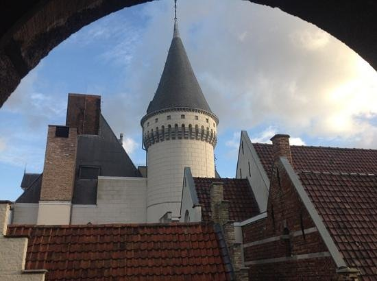 Hotel Prinsenhof Bruges : View out the window